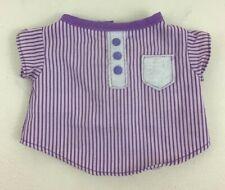 Vintage 80s Gloworm Plush Replacement Purple Night Shirt Striped Glow Worm Bug