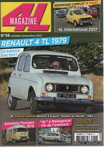 4L MAGAZINE 56 RENAULT 4 TL 1979 4L INTERNATIONAL 2017 RENAULT ESTAFETTE 1000KG