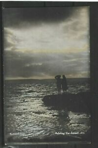 """Postcard : Kirkwall Orkney, """"Watching the Sunset"""", RP posted Yorkshire 1907"""