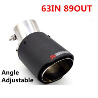 1* Stainless steel car end Pipes Exhaust Pipe Angle Adjustable Carbon Fiber Look