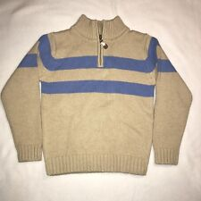 ' Best & Co. Long Sleeve Tan & Blue Pullover Sweater NEW Size 6 Boys