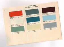 1964 ENGLISH FORD COLOR CHART Chip Paint Sample Paint Brochure: UK, British