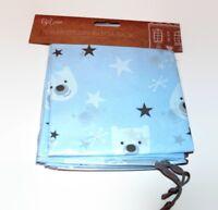 2 Pack Large Drawstring Christmas Santa Sacks Stocking Bag Gift BLUE BEAR