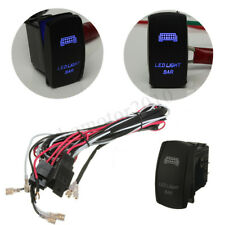 LED Light Bar Rocker Switch ON-OFF 40A Relay Wiring Harness Kit For ATV JEEP SUV