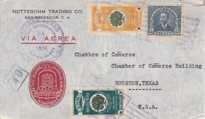 Salvador #563,#C47,#C49 w German 1936 Olympic Label tied by cancel on cover   *d