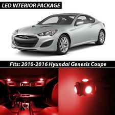 Red Interior LED Lights Package Kit for 2010-2016 Hyundai Genesis Coupe