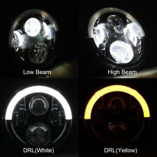 2x 7 inch LED Headlights dual color High Output DRL Lamp For JEEP JK GQ PATROL