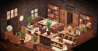Animal : Crossing Dark Modern Living Room