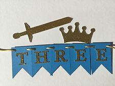 Little Prince or knight party number or name personalised Cake Bunting Topper