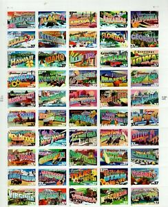 U. S. SCOTT CAT. # 3696 - 3745 FULL SHEET MNH