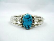 Navajo Sterling Silver Turquoise Cuff Bracelet Alfred Martinez Tribal AI266