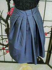 Lavia Size IT 40/US 6  Navy Asymetric Pleat Front Skirt