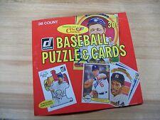 1982 Donruss Baseball Wax Box Baseball Puzzles & Cards 36 Packs Unopened