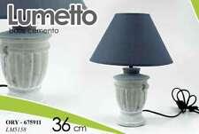 LAMPADA H36 CM DA TAVOLO COMODINO LUMETTO ABAT JOUR TONDA CEMENTO ORY 675911