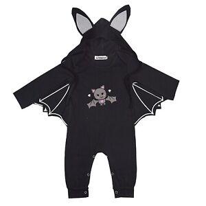 Cute Bat Baby Romper Playsuit Black Alternative Punk Goth Creepy Alternatots