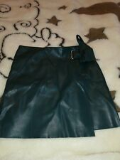 River Island green leather skirt size 8