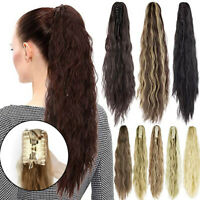 Wavy With Claw Ponytail Hairpiece Thick Clip in On Pony Tail Hair Extensions NY