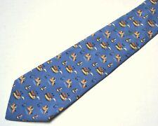 Salvatore Ferragamo Mens Necktie Tie Horseman Vintage Silk Good Used Cond