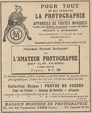 Z9565 Magasin Moderne de Photographie -  Pubblicità d'epoca - 1921 Old advert