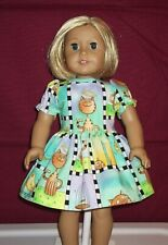 """Kitty Doll Dress - Fits 18"""" Doll such as American Girl Doll - NEW Handmade"""