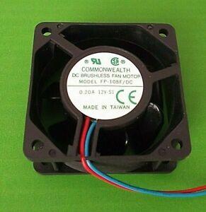 Fan 12 Volt 60mm Fans 12V dc Cooling FP108F/DC12VS1S  60 x60x 25mm Sleeve x 1pc