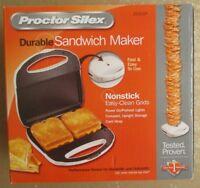 Proctor Silex Sandwich Maker Toaster PANINI press Nonstick Grill FAST FREE SHIP!