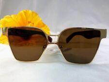efc04f968b Cat Eye Sunglasses Frame Metal Gold Legs Plastic Brown