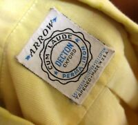SMALL True Vtg 70's ARROW CUM LAUDE DECTON OXFORD COLLAR RELIC DRESS SHIRT USA