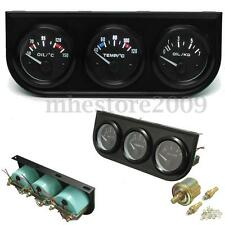 2'' 52mm Oil Temp + Oil Pressure + Water Temp Car Auto Triple 3 Gauge Kits Meter