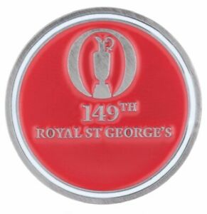 2021 OFFICIAL (Royal St Georges) British Open Two Sided (Red/Wht) BALL MARKER