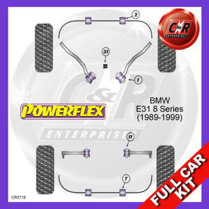 Fits BMW E31 8 Series (1989 - 1999)  Powerflex Complete Bush Kit