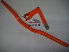 Manubrio in alluminio fixed bike 580mm colore ARANCIO + Piantone manubrio Fixed
