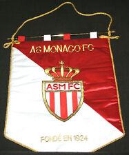 RARE FOOTBALL GRAND FANION BRODE ECHANGE CAPITAINE ASSOCIATION SPORTIVE MONACO