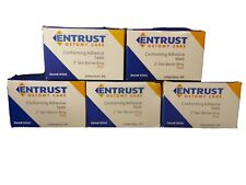 "LOT of 5 ENTRUST #6100 box/20 Ostomy Barrier Seals Thin 2"" Conforming Adhesive"