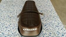 Kawasaki KZ400 KZ400D-400D3-400D4 1974-1977 New BROWN +strap white logo (K12)
