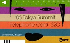 *594 SCHEDA TELEFONICA PHONECARD USATA GIAPPONE JAPAN 86 TOKYO SUMMIT