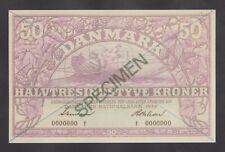 DENMARK  50 Kroner 1944 UNC  *SPECIMEN*  REPRODUCTION