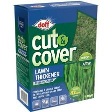 Doff Easy Cut & Cover Grass Lawn Thickener, Fast Acting Feed & Seed, 42m2, 1.5kg