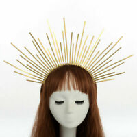 Women's Handmade Gold Spike Halo Headband Bridal Crown Party Headdress Headpiece