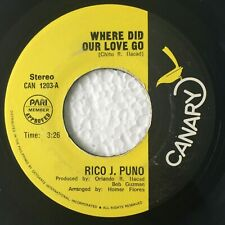 """RICO J. PUNO Where Did Our Love Go PHILIPPINES OPM 7"""" 45 RPM"""