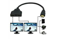Adaptateur Prise HDMI Mâle vers Double HDMI Femelle Câble Connectique Splitter