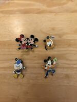 Disney Pins Cuties Lot of Mickey Mouse, Minnie, Goofy, Donald Duck and Pluto
