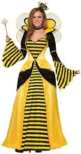 Ladies Queen Bee Long Pleine Longueur animal insecte Fancy Dress Costume Outfit 10-14
