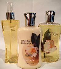 Bath & Body Works White Tea & Ginger, Shower Gel,Lotion and Fragrance Set Of 3