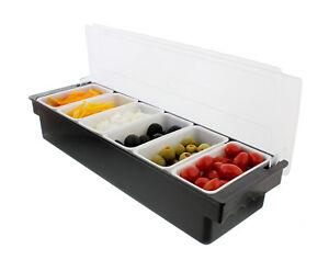 Ice Cooled Condiment Holder Garnish Tray