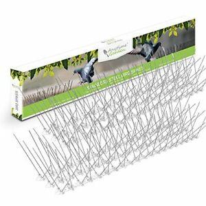 STAINLESS STEEL BIRD SPIKES - Durable Pigeon Repellent - Great Deterrent for