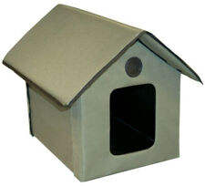 Outdoor Heated Kitty House Waterproof Nylon Vinyl Construction Extended Roof