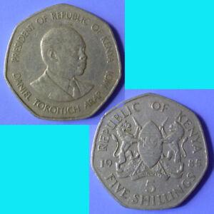 Kenya 5 Shillings 1985 km 23