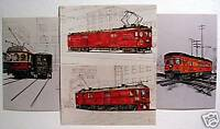 Electric Railway Post Office 4 Post Card Set Old Stock