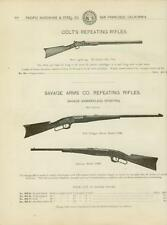 Catalog Page Ad  Colt's  Repeating Rifles 22 Savage Arms Co Marlin 1895 (1902)